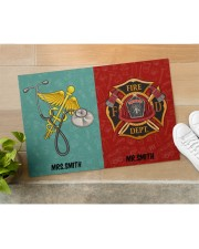 "Nurse Firefighter Couple Doormat 34"" x 23"" aos-doormat-34-x-23-lifestyle-front-11"