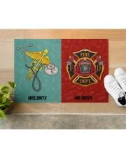 "Nurse Firefighter Couple Doormat 34"" x 23"" aos-doormat-34-x-23-lifestyle-front-12"