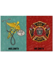 """Nurse Firefighter Couple Doormat 34"""" x 23"""" front"""