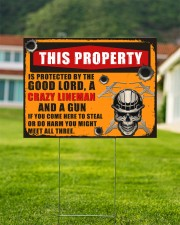 Lineman This property is protected  24x18 Yard Sign aos-yard-sign-24x18-lifestyle-front-01