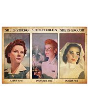 Nurse she is strong 36x24 Poster front