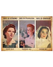 Nurse she is strong Horizontal Poster tile