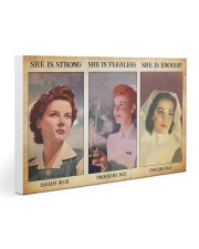 Nurse she is strong 30x20 Gallery Wrapped Canvas Prints thumbnail