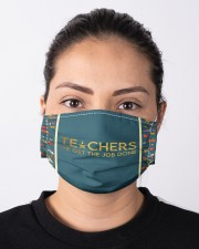 Teacher We get the job done Cloth face mask aos-face-mask-lifestyle-01