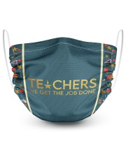 Teacher We get the job done 2 Layer Face Mask - Single thumbnail