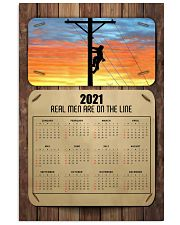 Lineman real men are on the lines 24x36 Poster front