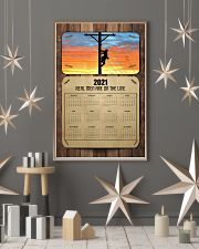 Lineman real men are on the lines 24x36 Poster lifestyle-holiday-poster-1
