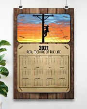 Lineman real men are on the lines 24x36 Poster poster-portrait-24x36-lifestyle-19