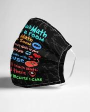 Teach317 I will teach math Cloth face mask aos-face-mask-lifestyle-21