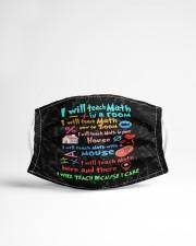 Teach317 I will teach math Cloth face mask aos-face-mask-lifestyle-22