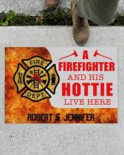 """Firefighter and his hottie  Doormat 34"""" x 23"""" aos-doormat-34-x-23-lifestyle-front-01"""