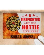 """Firefighter and his hottie  Doormat 34"""" x 23"""" aos-doormat-34-x-23-lifestyle-front-05"""