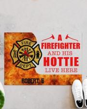 """Firefighter and his hottie  Doormat 34"""" x 23"""" aos-doormat-34-x-23-lifestyle-front-06"""