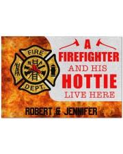 """Firefighter and his hottie  Doormat 34"""" x 23"""" front"""