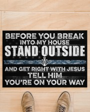 """NV Stand outside  Doormat 34"""" x 23"""" aos-doormat-34-x-23-lifestyle-front-02"""