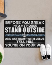 """NV Stand outside  Doormat 34"""" x 23"""" aos-doormat-34-x-23-lifestyle-front-07"""