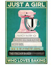 Baker Just a girl who loves baking  24x36 Poster front