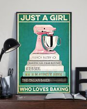 Baker Just a girl who loves baking  24x36 Poster lifestyle-poster-2