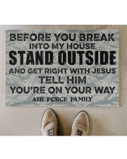 """AF Before you break into my house Doormat 34"""" x 23"""" aos-doormat-34-x-23-lifestyle-front-04"""
