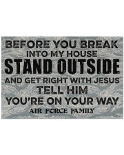 """AF Before you break into my house Doormat 34"""" x 23"""" front"""