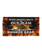 Firefighter An old man who wears bunker gear Cloth face mask front