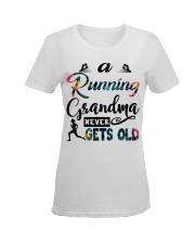 Running grandma 02 Ladies T-Shirt women-premium-crewneck-shirt-front