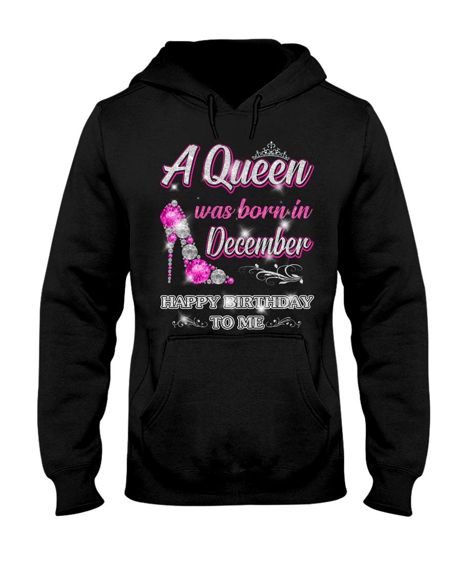 A Queen was born in-December Hooded Sweatshirt