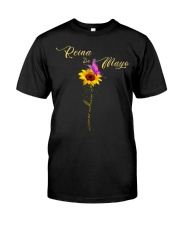 living my best life-flower-t5 Classic T-Shirt front