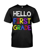 Hello first grade Premium Fit Mens Tee front