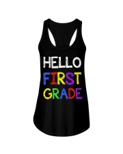Hello first grade Ladies Flowy Tank thumbnail
