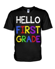 Hello first grade V-Neck T-Shirt thumbnail
