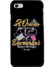 a queen was born in December 1-black-12-fix Phone Case thumbnail