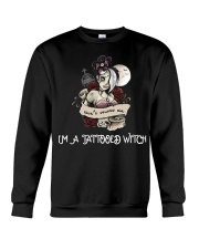Don't scares me i'm a tattooed witch Crewneck Sweatshirt thumbnail