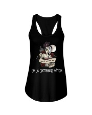 Don't scares me i'm a tattooed witch Ladies Flowy Tank thumbnail