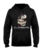 Don't scares me i'm a tattooed witch Hooded Sweatshirt thumbnail