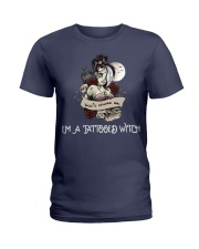 Don't scares me i'm a tattooed witch Ladies T-Shirt front