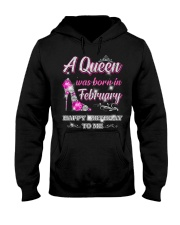 A Queen was born in-February Hooded Sweatshirt thumbnail