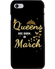 Queen are born in March yellow-T3 Phone Case thumbnail