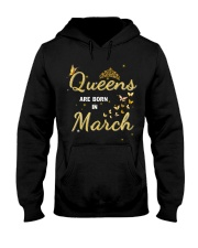 Queen are born in March yellow-T3 Hooded Sweatshirt thumbnail