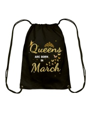 Queen are born in March yellow-T3 Drawstring Bag thumbnail