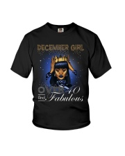 December girl over 40 and Fabulous-2-T12 Youth T-Shirt thumbnail