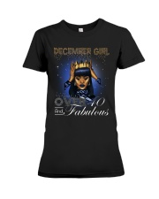 December girl over 40 and Fabulous-2-T12 Premium Fit Ladies Tee thumbnail