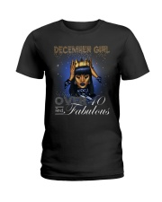 December girl over 40 and Fabulous-2-T12 Ladies T-Shirt front