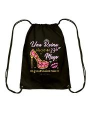Una reina-23-album heels-T5 Drawstring Bag thumbnail