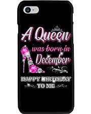 A Queen was born in-December-shirt Phone Case thumbnail