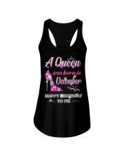 A Queen was born in-December-shirt Ladies Flowy Tank thumbnail