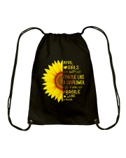 Bomb sunflower -T4 Drawstring Bag thumbnail