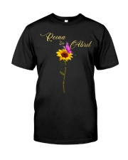 living  my best life-flower-T4 Classic T-Shirt front