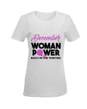 Women power built in the thirties-white-December Ladies T-Shirt women-premium-crewneck-shirt-front