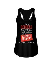 i'm a redhead i don't care Ladies Flowy Tank thumbnail